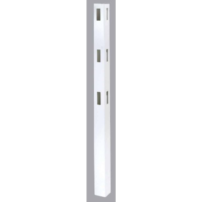 Outdoor Essentials 5 In. x 5 In. x 84 In. White Corner 3-Rail Fence Vinyl Post