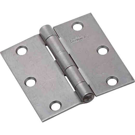 National 3 In. Square Steel Broad Door Hinge