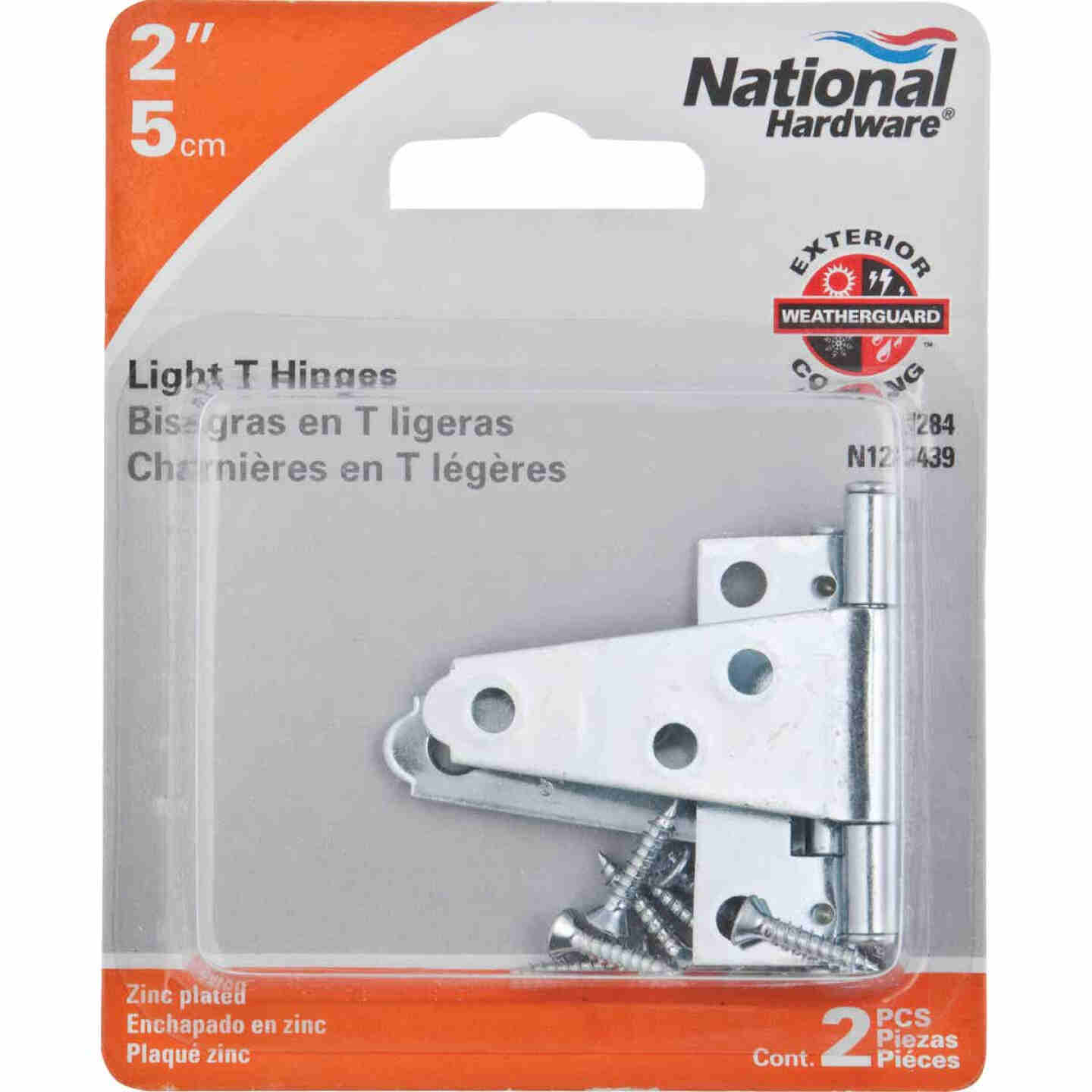 National 2 In. Light Duty T-Hinge With Screw (2 Count) Image 2