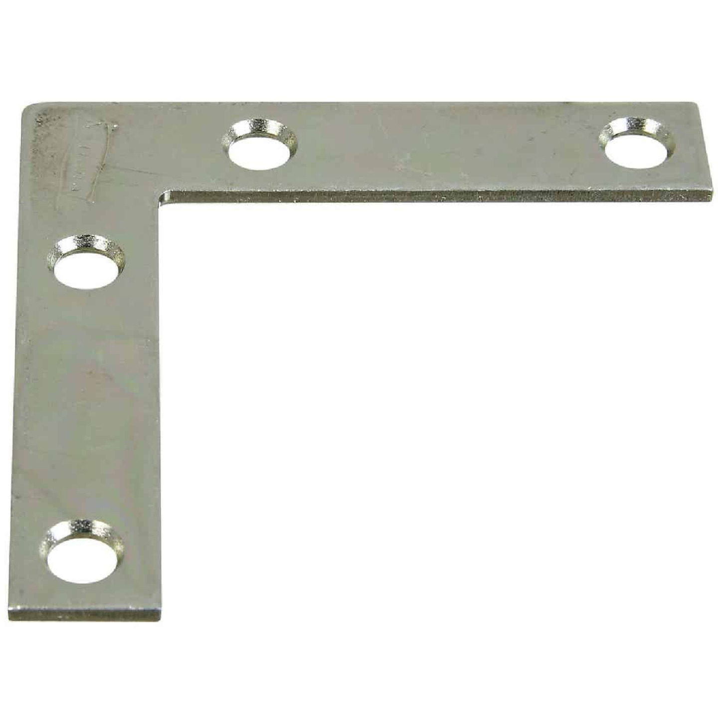 National Catalog 117 2-1/2 In. x 1/2 In. Zinc Flat Corner Iron Image 1