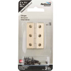 National 1-3/8 In. x 2 In. Antique Brass Hinge (2-Pack) Image 2