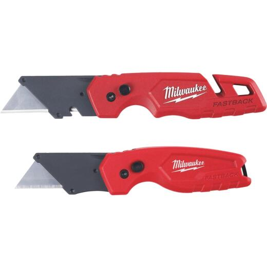 Milwaukee FASTBACK Folding Utility Knife w/Storage and Carpet Knife Set