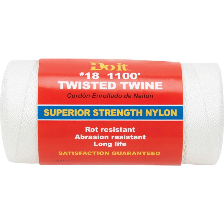 Do it #18 x 1100 Ft. White Nylon Twisted Twine Image 1