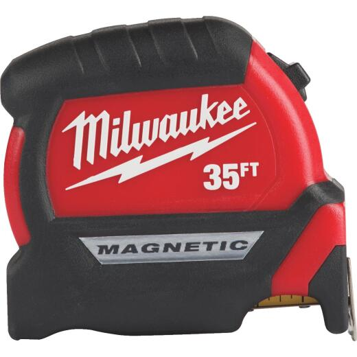 Milwaukee 35 Ft. Compact Wide Blade Magnetic Tape Measure