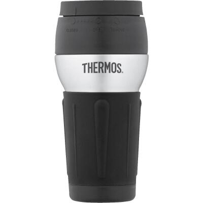 Thermos 14 Oz. Black Stainless Steel Insulated Tumbler