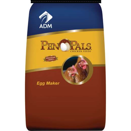 ADM Pen Pals 50 Lb. Egg Maker Chicken Feed Pellets