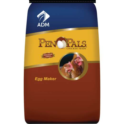 ADM Pen Pals 50 Lb. Egg Maker Chicken Feed Crumble