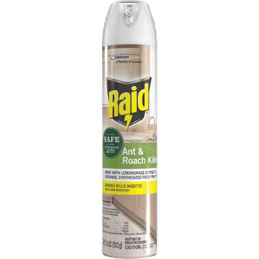 Raid 11 Oz. Aerosol Spray Ant & Roach Killer with Essential Oils