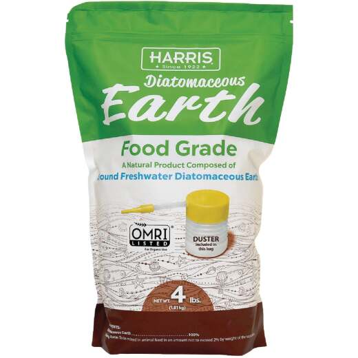 Harris 4 Lb. Ready To Use Powder Food Grade Diatomaceous Earth