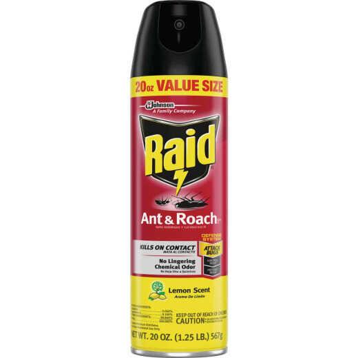 Raid 17.5 Oz. Lemon Scent Aerosol Spray Ant & Roach Killer