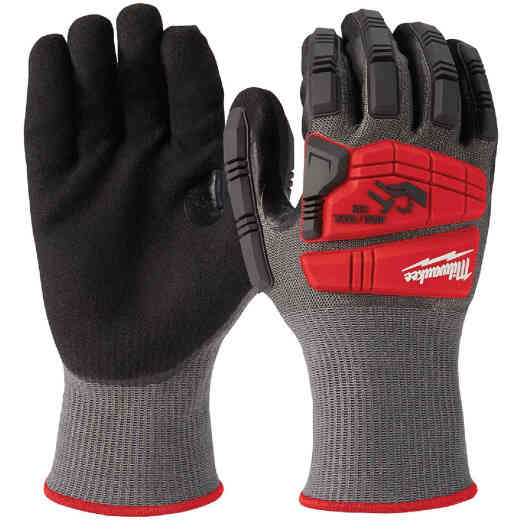 Milwaukee Impact Cut Level 5 Men's Medium Nitrile Dipped Work Gloves