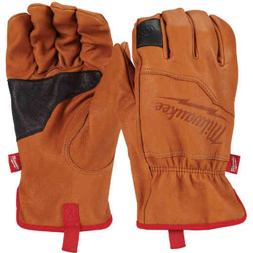 Milwaukee Men's Medium Goatskin Leather Work Gloves