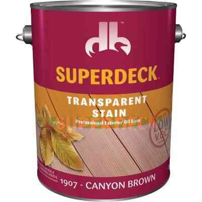 Duckback SUPERDECK VOC Transparent Exterior Stain, Canyon Brown, 1 Gal.