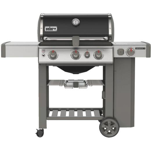 Weber Genesis II SE-330 3-Burner Black 39,000 BTU LP Gas Grill with 12,000 BTU Side Burner