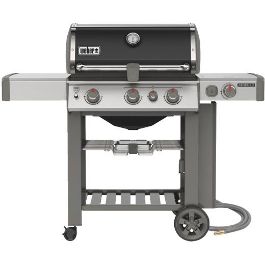Weber Genesis II SE-330 3-Burner Black 39,000 BTU Natural Gas Grill with 12,000 BTU Side Burner