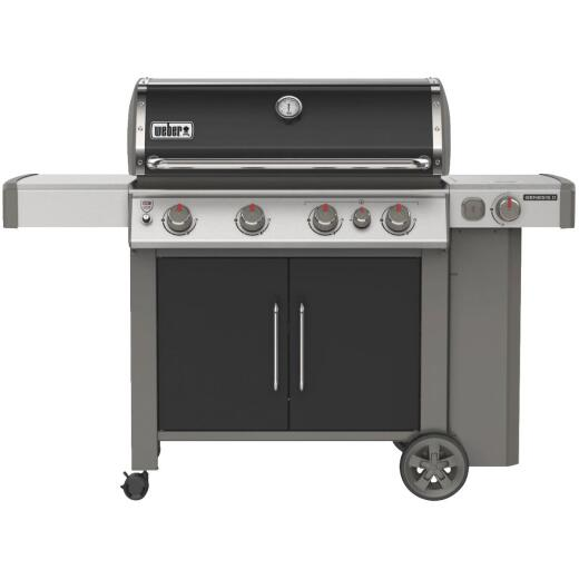 Weber Genesis II E-435 4-Burner Black 48,000 BTU LP Gas Grill with 12,000 BTU Side Burner