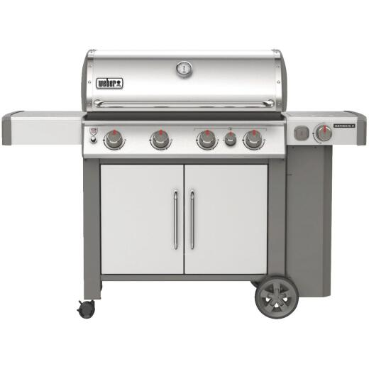 Weber Genesis II S-435 4-Burner Stainless Steel 48,000 BTU LP Gas Grill with 12,000 BTU Side Burner